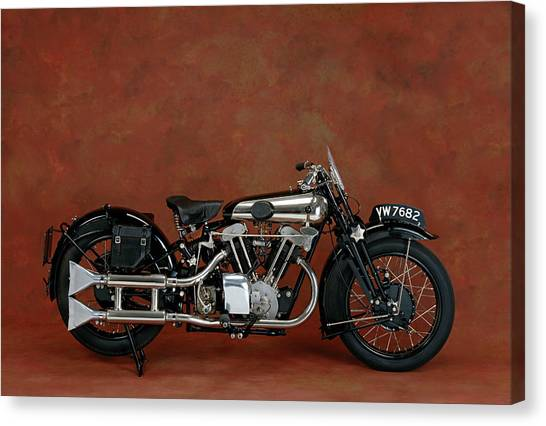 E.t Canvas Print - 1930 Brough Superior 680cc V-twin by Panoramic Images