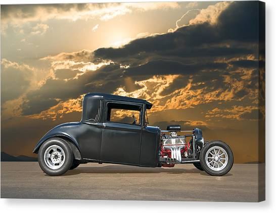 1930 Hudson Hot Rod Coupe II Canvas Print by Dave Koontz