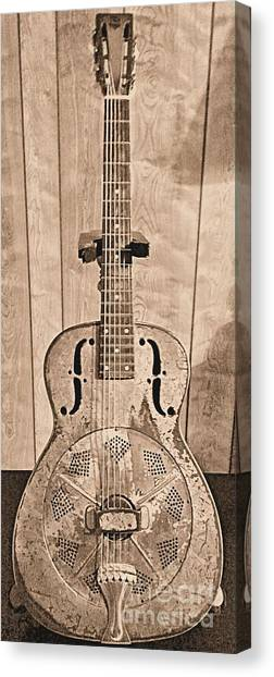 Slide Guitars Canvas Print - 1930 National Duolian by Classic Spokes And Strings
