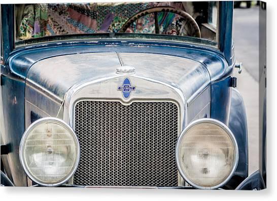 1930's Chevy Headlights Canvas Print