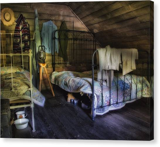 1930's Country Bedroom  Canvas Print