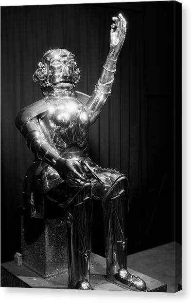 Automaton Canvas Print - 1930s Futuristic Robot Man Manufactured by Vintage Images