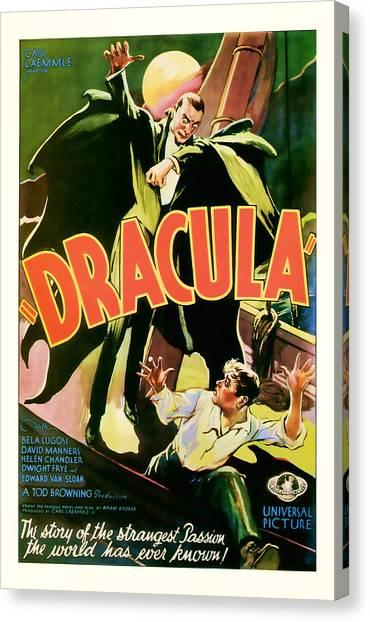 1931 Dracula Vintage Movie Art Canvas Print