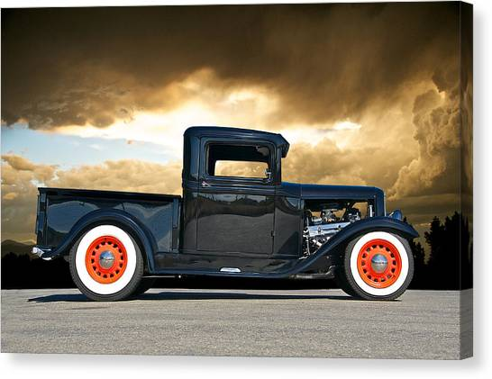 1932 Ford Pick Up Iv Canvas Print by Dave Koontz