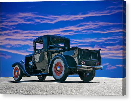 1932 Ford Pick Up V Canvas Print by Dave Koontz