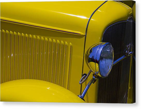 1932 Ford Canvas Print - 1932 Yellow Ford Coupe by Garry Gay