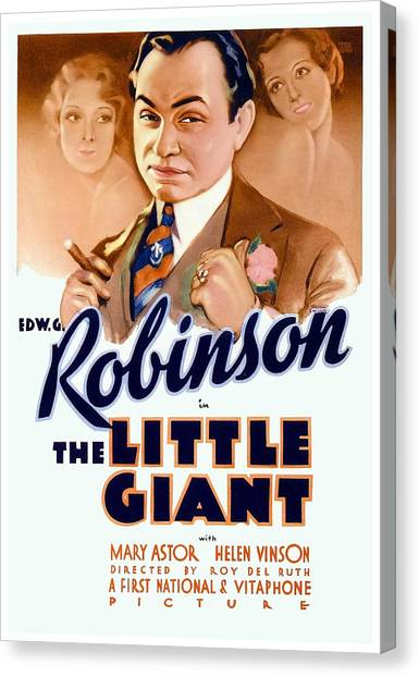 1933 - The Little Giant - Warner Brothers Movie Poster - Edward G Robinson - Color Canvas Print