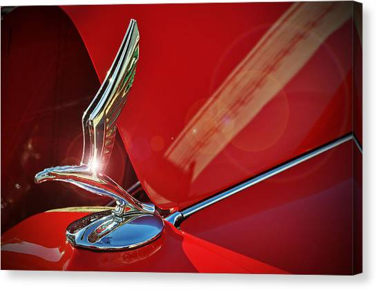 1933 Chevrolet Hood Ornament Canvas Print