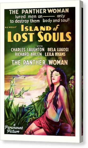1933 Island Of Lost Souls Vintaage Movie Art Canvas Print