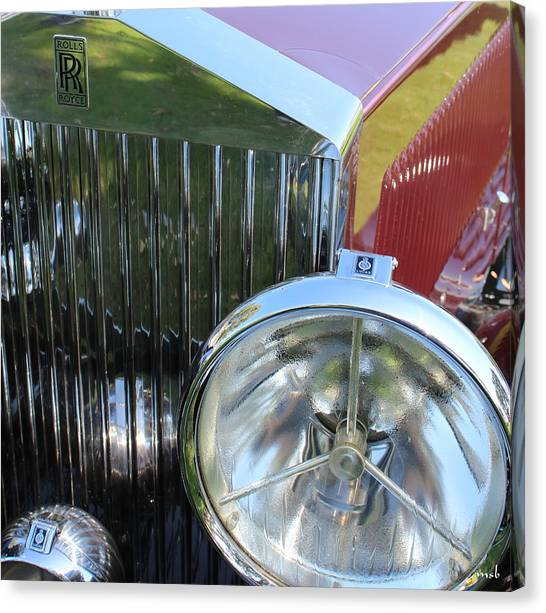 1933 Rolls Royce Phantom II Grille Canvas Print by Mark Steven Burhart