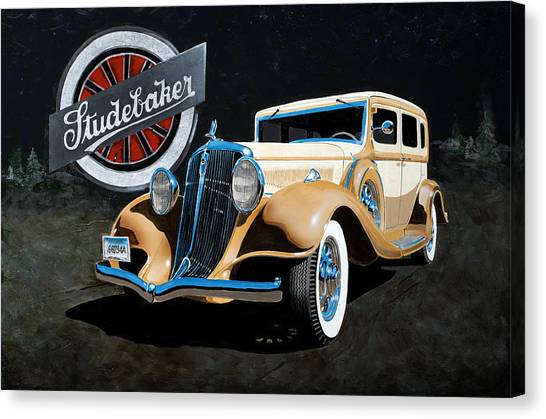 1933 Studebaker Canvas Print