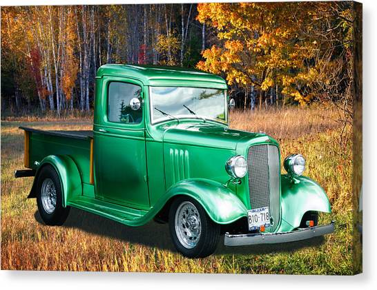 1934 Chev Pickup Canvas Print