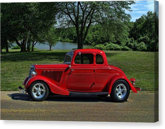 1934 Ford 5 Window Hot Rod Canvas Print