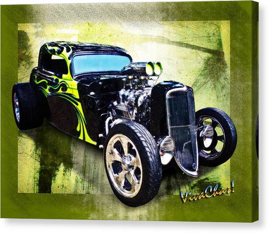 1934 Ford Three Window Coupe Hot Rod Canvas Print