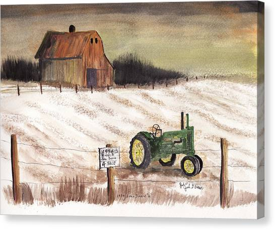 1934 John Deere Model A For Sale Canvas Print