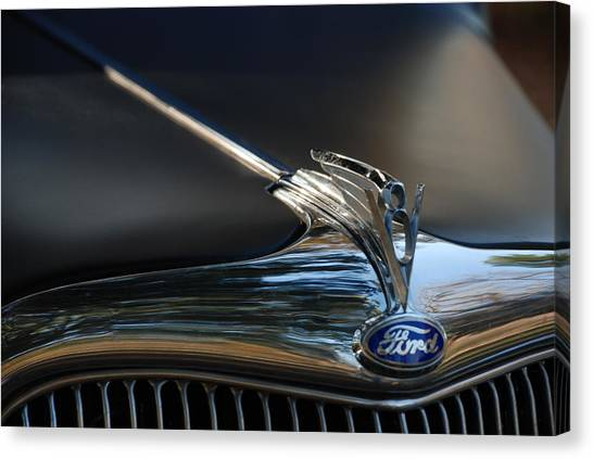 1935 Ford V8 Emblem  Canvas Print
