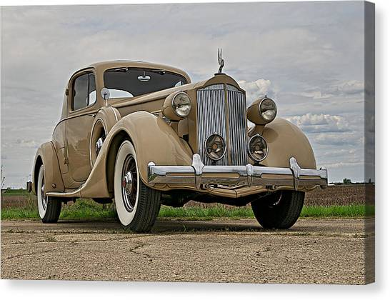 1935 Packard Super 8 Canvas Print by Jerry Druhan