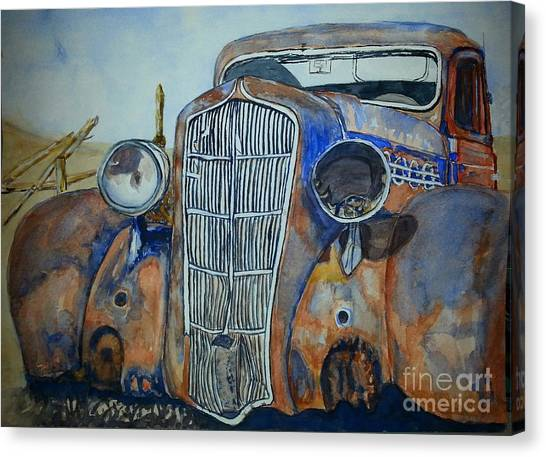 1935 Plymouth Coupe Canvas Print by DJ Laughlin
