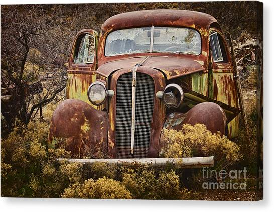 Corde Canvas Print - 1936 Chevy Coupe With Memories by Priscilla Burgers