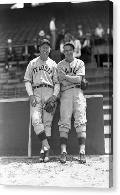 Braces Canvas Print - Baseball Fun St Louis by Retro Images Archive