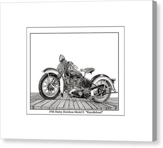 1936 Harley Knucklehead Canvas Print