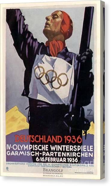 1936 Winter Olympics Canvas Print by Unknown