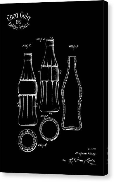 Pepsi Canvas Print - 1937 Coca Cola Bottle by Mark Rogan