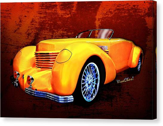 1937 Cord Coffin Nose Speedster Concours On Toast Canvas Print