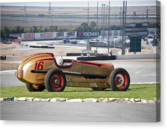 Automotive Art Series Canvas Print - 1937 Packard Custom Indy Conversion by Dave Koontz