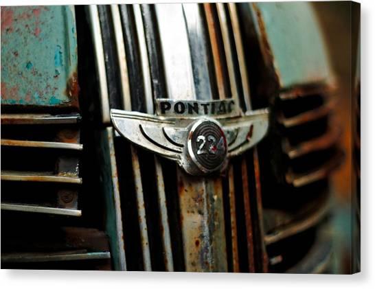 1937 Pontiac 224 Grill Emblem Canvas Print