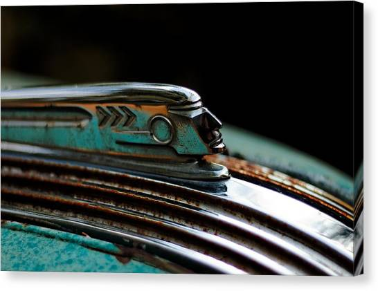 1937 Pontiac 224 Hood Ornament Canvas Print