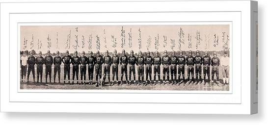 Washington Redskins Canvas Print - 1937 Washington Redskins Team Photo by Unknown
