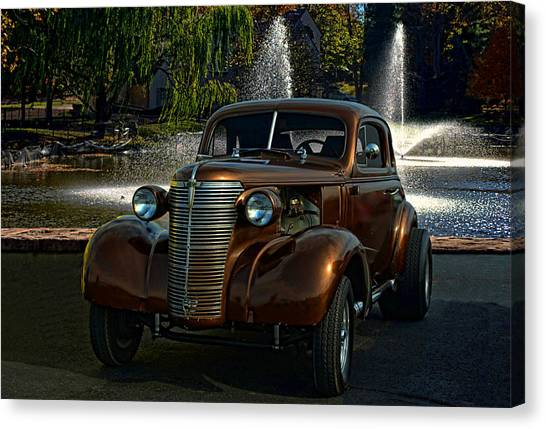 1938 Chevrolet Coupe Street Dragster Canvas Print