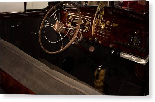 1938 Chevrolet Interior Canvas Print