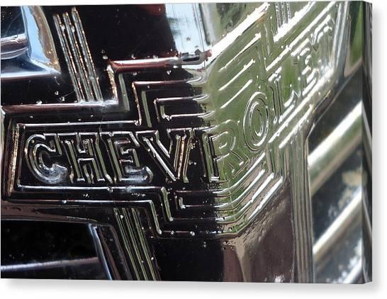 1938 Chevrolet Sedan Emblem Canvas Print