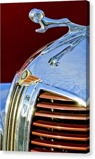 Dodge Canvas Print - 1938 Dodge Ram Hood Ornament 3 by Jill Reger