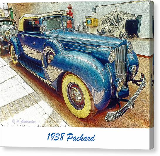 1938 Packard National Automobile Museum Reno Nevada Canvas Print by A Gurmankin