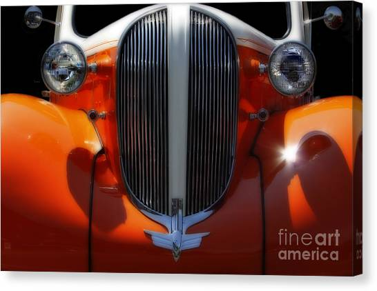1938 Plymouth  Canvas Print by Steven Digman
