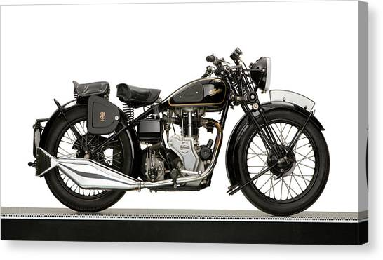 Mac Canvas Print - 1938 Velocette Mac 350 Motorcycle by Panoramic Images