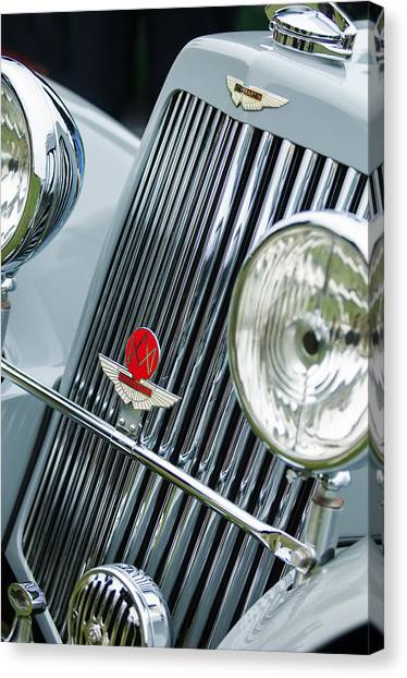 Martin Canvas Print - 1939 Aston Martin 15-98 Abbey Coachworks Swb Sports Grille Emblems by Jill Reger