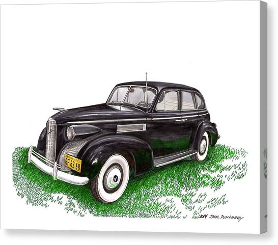 Canvas Print - 1939 Lasalle 5019 Sedan by Jack Pumphrey