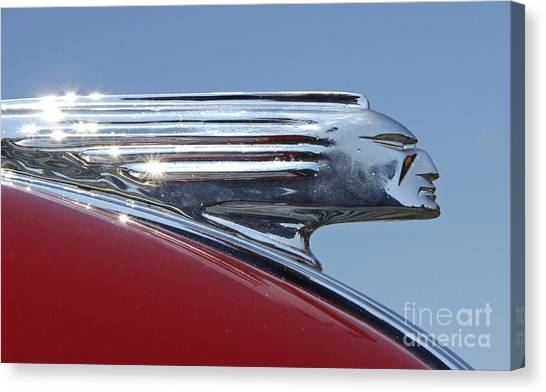 1939 Pontiac Hood Ornament Canvas Print