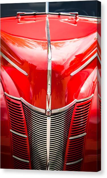 Grill Canvas Print - 1940 Ford Deluxe Coupe Grille by Jill Reger
