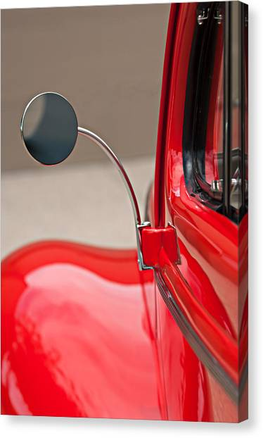 Coupe Canvas Print - 1940 Ford Deluxe Coupe Rear View Mirror by Jill Reger