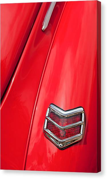 Coupe Canvas Print - 1940 Ford Deluxe Coupe Taillight by Jill Reger