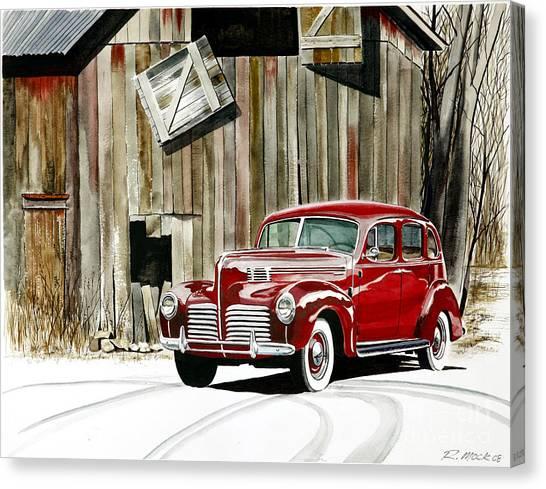 1940 Hudson And Barn Canvas Print by Rick Mock