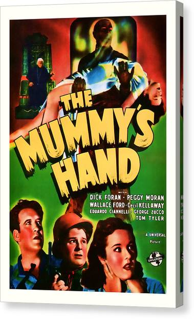 1940 The Mummys Hand Vintage Movie Art Canvas Print