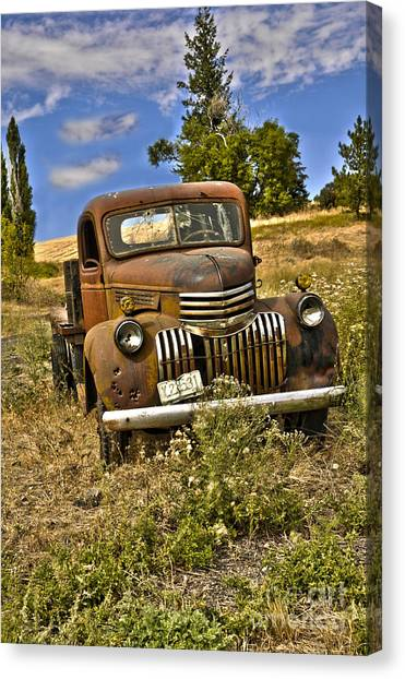 1940's Chevy Truck Canvas Print by Camille Lyver