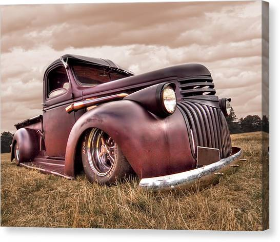 Chevrolet Pickup Canvas Print - 1941 Rusty Chevrolet by Gill Billington