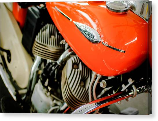 Scouting Canvas Print - 1942 Indian Sport Scout 45 Ci Motorcycle by Jill Reger